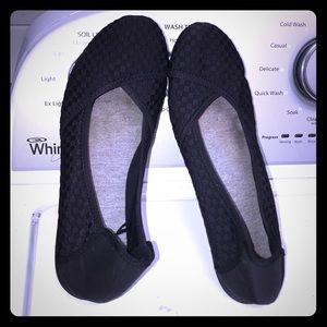 Shoes - Like new black woven flats